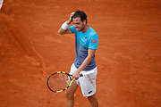 Marco CECCHINATO (ITA) reacted after winning the game during the Roland Garros French Tennis Open 2018, day 10, on June 5, 2018, at the Roland Garros Stadium in Paris, France - Photo Stephane Allaman / ProSportsImages / DPPI