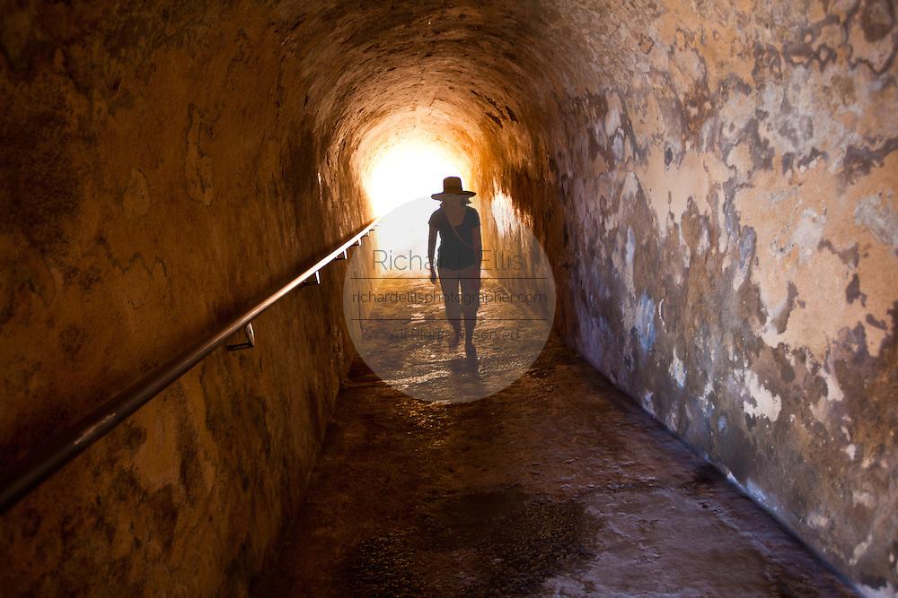 Tunnel inside Castillo de San Cristóbal Old San Juan, Puerto Rico.