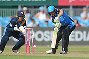 Martin Guptil of Worcestershire Rapids during the Natwest T20 Blast North Group match between Derbyshire County Cricket Club and Worcestershire County Cricket Club at the 3aaa County Ground, Derby, United Kingdom on 8 July 2018. Picture by Mick Haynes.