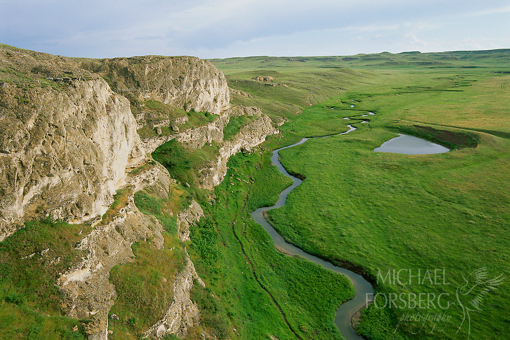 High plains, Niobrara river, shortgrass prairie. Sioux county, Nebraska.