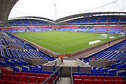 general view of the University of  Bolton Stadium. EFL Sky Bet League 1 match between Bolton Wanderers and Fleetwood Town at the University of  Bolton Stadium, Bolton, England on 2 November 2019.