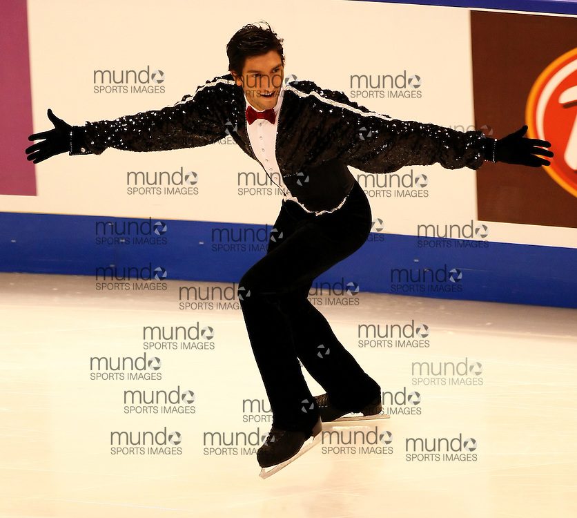(Ottawa, ON---1 November 2008)  Evan Lysacek of the USA compete in the men's free skate at the 2008 HomeSense Skate Canada International figure skating competition. He finished third. Photograph copyright Sean Burges/Mundo Sport Images (www.msievents.com).