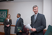 "Erin Cochran, President McDavis, Larry Schey..11/1/2006..Ralph and Luci Schey Sales Centre named at Ohio University.Center named for prominent Cleveland-area residents..ATHENS, Ohio (Nov. 1, 2006) -- Ohio University celebrated today the naming of the Ralph and Luci Schey Sales Centre in the College of Business. The Ohio University Board of Trustees passed a resolution that approved the official naming of the center during its recent meeting. Ralph and Luci Schey are residents of Gates Mills, Ohio...""The Ralph and Luci Schey Sales Centre is truly a unique program that continues to meet the needs of current and future Ohio University students,"" Ohio University President Roderick J. McDavis said. ""The skills that students develop at the center are useful in a variety of academic pursuits and careers. Statistics show that up to 65 percent of college graduates' first professional jobs are in sales-related roles.""..Ralph Schey was a guiding force behind the creation of the center in 1997. He challenged the university to get involved in sales education. ""It is particularly fitting that the center has now been named for those who first inspired us,"" said College of Business Associate Dean Dawn Deeter-Schmelz...Ralph and Luci Schey have supported their vision with a $2.2 million commitment to support the sales center. The endowment they have funded supports scholarships, operating expenses, nationally known speakers, professional trainers, workshops and sales symposia that allow current students to interact with professionals in the field...Ralph Schey, now retired, was for two decades president and CEO of the $1 billion conglomerate Scott Fetzer Company, a Berkshire Hathaway holding. His wife, Luci Schey, has been a trustee for the Cleveland Orchestra, among other civic groups. The Scheys are emeriti trustees of The Ohio University Foundation Board. Ralph Schey earned his bachelor's of science in commerce from Ohio University in 1948 and received an honorary doctorate from"