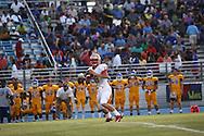Lafayette High's Devon Thomas (18) passes vs. Tupelo in Tupelo, Miss. on Friday, August 23, 2013. Tupelo won.