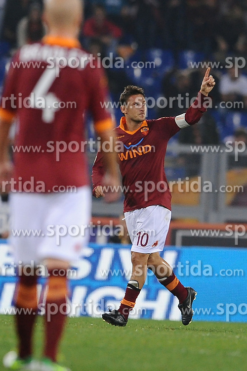 04.11.2012, Olympiastadion, Rom, ITA, Serie A, AS Rom vs US Palermo, 11. Runde, im Bild  // during the Italian Serie A 11th round match between AS Roma and USC Palermo at the Olympic Stadium, Rome, Italy on 2012/11/04. EXPA Pictures © 2012, PhotoCredit: EXPA/ Insidefoto/ Antonietta Baldassarre..***** ATTENTION - for AUT, SLO, CRO, SRB, SUI and SWE only *****