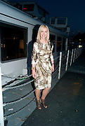SALLY GREENE, The opening night party for the second year of The Bridge Project,   Silverfleet on the River Thames. Savoy Pier. London. 23 June 2010. -DO NOT ARCHIVE-© Copyright Photograph by Dafydd Jones. 248 Clapham Rd. London SW9 0PZ. Tel 0207 820 0771. www.dafjones.com.