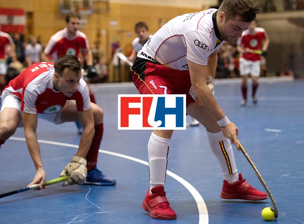 BERLIN - Indoor Hockey World Cup<br /> Austria - Belgium<br /> foto: MARAITE Pierre Louis<br /> WORLDSPORTPICS COPYRIGHT FRANK UIJLENBROEK