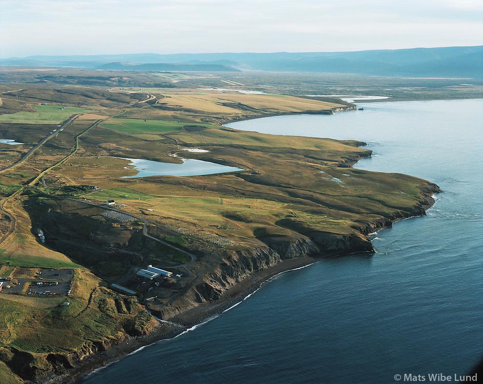 Kaldbakur eyðijörð, Kaldbaksnef, Gvendarbás, Saltvík fyrir sunnan Húsavík /  Kaldbakur former farmsite.Kaldbaksnef, Gvendarbas and Saltvik site for possible electrometalurgic industry south of Husavik. Norðurþing / Nordurthing