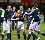 IRN BRU Scottish League First Division<br /> Dens Park, Dundee 29/12/2007<br /> <br /> Kevin McDonald is mobbed by team-mates after scoring Dundee's last gasp winner<br /> <br /> David Young<br /> <br /> Monifieth<br /> Dundee<br /> <br /> Tel: <br /> Email: davidy233@gmail.com