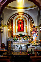 """Crimson Crucifixion in the chapel of Church of Santa Maria Assunta in Positano""…<br />