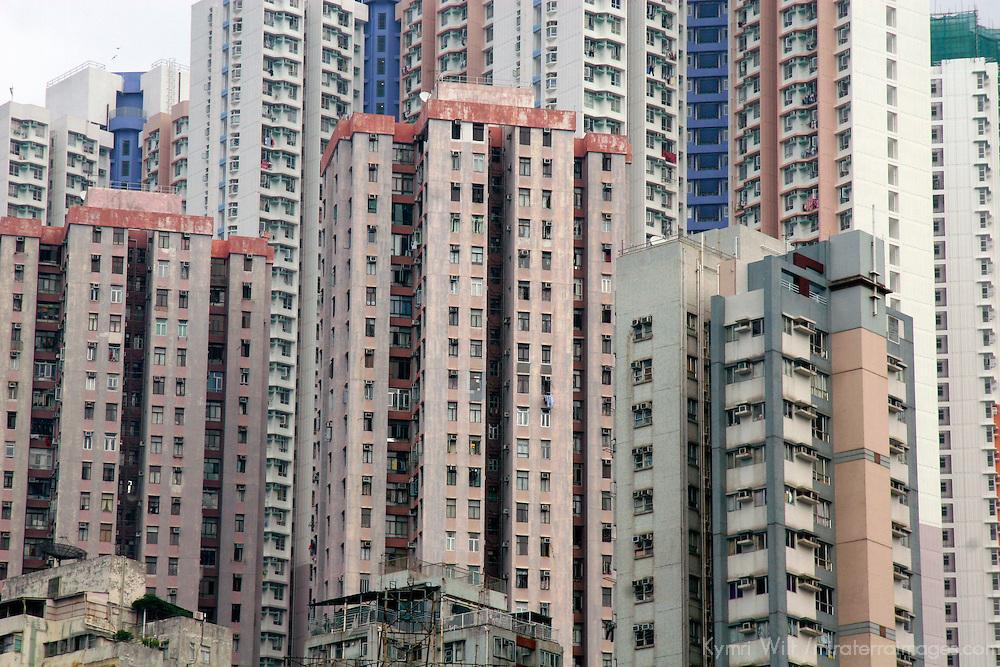 Asia, China, Hong Kong. Skyscraper Scene.
