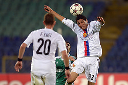21.08.2013, Nationalstadion, Sofia, BUL, UEFA CL Play off, PFC Ludogorez Razgrad vs FC Basel, im Bild Mohamed Elneny (Basel) // during the UEFA Champions League, Play off first leg match between PFC Ludogorez Razgrad and FC Basel at Nationalstadium in Sofia, Bulgaria on 2013/08/21. EXPA Pictures © 2013, PhotoCredit: EXPA/ Freshfocus/ Andy Mueller<br /> <br /> ***** ATTENTION - for AUT, SLO, CRO, SRB, BIH only *****