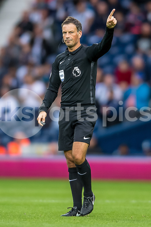 Match referee Marl Clattenburg during the Premier League match between West Bromwich Albion and West Ham United at The Hawthorns, West Bromwich, England on 17 September 2016. Photo by Darren Musgrove.