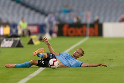 December 15, 2018 - Sydney, NSW, U.S. - SYDNEY, NSW - DECEMBER 15: Sydney FC midfielder Siem de Jong (22) slides to try and keep ball in play at the Hyundai A-League Round 8 soccer match between Western Sydney Wanderers FC and Sydney FC at ANZ Stadium in NSW, Australia on December 15, 2018. (Photo by Speed Media/Icon Sportswire) (Credit Image: © Speed Media/Icon SMI via ZUMA Press)