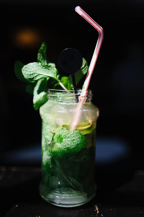 Mojito with fresh mint in Havana, Cuba