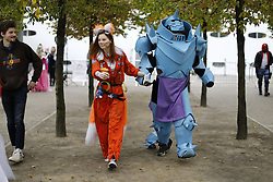 © Licensed to London News Pictures. 30/10/2016. London, UK. Cosplayers attend the MCM London Comic Con in ExCeL convention centre on Sunday, 30 October 2016. Photo credit: Tolga Akmen/LNP