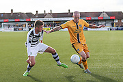 Forest Green Rovers Elliott Frear(11) and Sutton United's Nicky Bailey during the The FA Cup 4th qualifying round match between Sutton United and Forest Green Rovers at Gander Green Lane, Sutton, United Kingdom on 15 October 2016. Photo by Shane Healey.