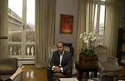 Prosper Assouline in his apartment. Paris. 27 January 2006. ONE TIME USE ONLY - DO NOT ARCHIVE  © Copyright Photograph by Dafydd Jones 66 Stockwell Park Rd. London SW9 0DA Tel 020 7733 0108 www.dafjones.com