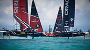 Bermuda June 2017 35th Americas Cup. Peter Burling and Emirates Team New Zealand have won the 35th America's Cup.<br /> <br /> The Kiwi team dominated the final stage of the 35th America's Cup, winning eight races to ORACLE TEAM USA's one race win, giving the New Zealanders a final winning scoreline of 7-1.<br /> <br /> The America's Cup was last won by a team representing New Zealand in 2000 and they are now the Defenders of the America's Cup for the 36th installment of the competition for the oldest trophy in international sport.<br /> <br /> In the final press conference of the 35th America's Cup, Grant Dalton, CEO of Emirates Team New Zealand, also announced that the Royal New Zealand Yacht Squadron has accepted the challenge of Circolo della Vela Sicilia, who will be the Challenger of Record for the 36th America's Cup and will be represented by Luna Rossa.