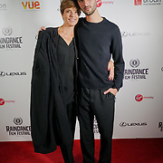 London, England, UK. 28th September 2017.Bettina Giovannini actress and Kasper Wind actor of Noble Earth attend Raindance Film Festival Screening at Vue Leicester Square, London, UK.