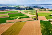 Nederland, Zeeland, Gemeente Terneuzen, 09-05-2013; Beukelpolder (li) en Paulinapolder. Westerschelde aan de horizon.<br /> Polders in the province of Zeeland, Westerschelde in the back.<br /> luchtfoto (toeslag op standard tarieven)<br /> aerial photo (additional fee required)<br /> copyright foto/photo Siebe Swart