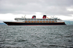 Disney's Cruise Ship The Magic leaves Greenock after the Cruise Line's first ever visit to Scotland<br /> <br /> (c) Billy White | Edinburgh Elite media
