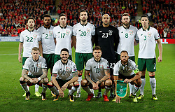 October 9, 2017 - Cardiff, Pays de Galles - Republic of Ireland pose for a team group photo before the match (Credit Image: © Panoramic via ZUMA Press)