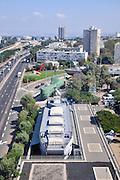 Israel, Haifa, The view of the city from Stella Maris on mount Carmel The Haifa maritime museum