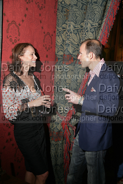 Andrea Dellal, Party for Jean Pigozzi hosted by Ivor Braka to thank him for the loan exhibition 'Popular Painting' from Kinshasa'  at Tate Modern. Cadogan sq. London. 29 May 2007.  -DO NOT ARCHIVE-© Copyright Photograph by Dafydd Jones. 248 Clapham Rd. London SW9 0PZ. Tel 0207 820 0771. www.dafjones.com.