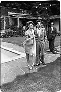 Baroness Francesca Thyssen and Baron Lorne Thyssen-Bornemisza. . Party to launch Faberge exhibition at Baron Thyssen's Villa Favorita, Lugano. 20 April 1987. © Copyright Photograph by Dafydd Jones 66 Stockwell Park Rd. London SW9 0DA Tel 020 7733 0108 www.dafjones.com
