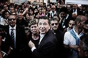 Ignazio Marino con Susanna Camusso durante i festeggiamenti per l'elezione a nuovo sindaco di Roma. Roma, 10 giugno 2013. Christian Mantuano / OneShot