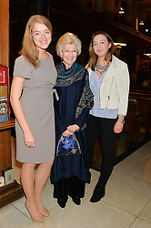 PRINCESS ALEXANDRA and her granddaughters FLORA OGILVY and ZENOUSKA MOWATT at a reception and debate to celebrate the publication of  'Women in Waiting, Prejudice at the the Heart of the Church' by Julia Ogilvy held at St.James's Church, 197 Piccadilly, London on 11th March 2014.