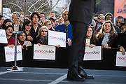 Supporters look on as Senator Marco Rubio speaks during a campaign rally on February 26, 2016 in Dallas, Texas.  (Cooper Neill for The New York Times)