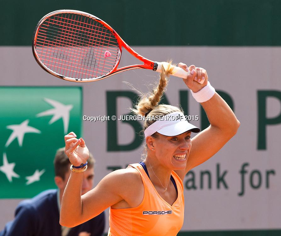 Angelique Kerber (GER)<br /> <br /> Tennis - French Open 2015 - Grand Slam ITF / ATP / WTA -  Roland Garros - Paris -  - France  - 29 May 2015.