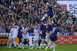 February 23, 2019 - Saint Denis, Seine Saint Denis, France - The Flanker of Scotland team MAGNUS BRADBURY in action during the Guinness Six Nations Rugby tournament between France and Scotland at the Stade de France - St Denis - France..France won 27-10 (Credit Image: © Pierre Stevenin/ZUMA Wire)