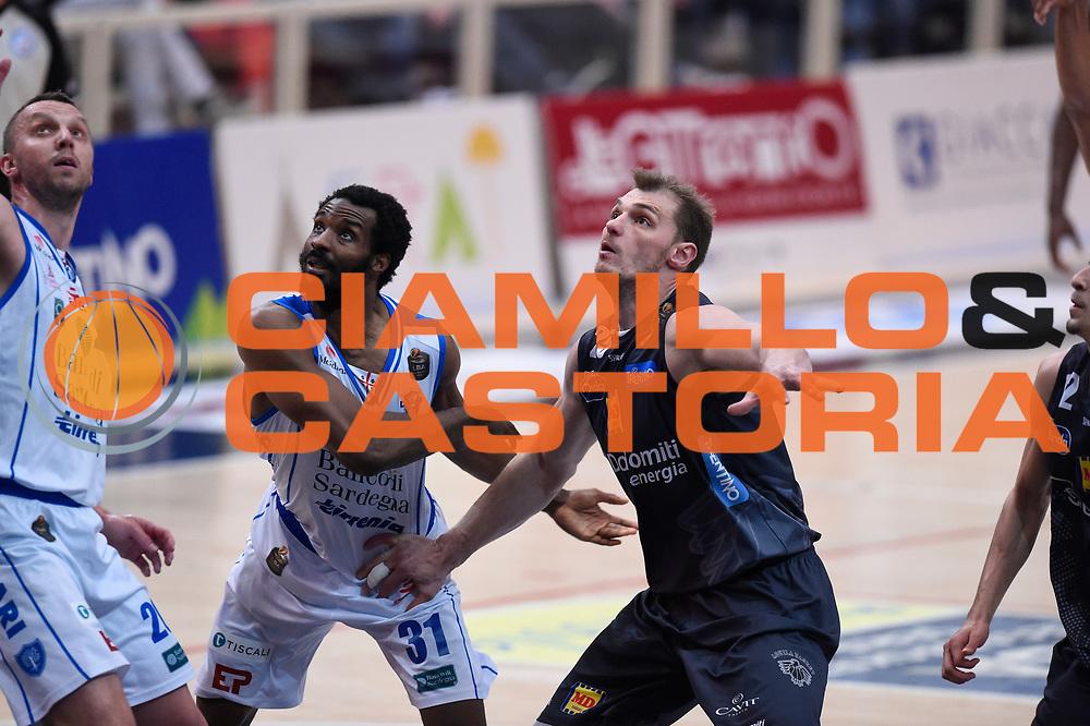 Lawal Gani, Lechthaler Luca<br /> Quarti di Finale Gara 2<br /> Legabasket A 2016,2017<br /> Trento 14,05,2017<br /> Foto Ciamillo-Castoria,GiulioCiamillo