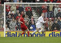 Photo. Aidan Ellis.Digitalsport<br /> Middlesbrough v Bolton Wanderers.<br /> FA Barclaycard Premiership.<br /> 03/04/2004.<br /> Boro's Johnathon Greening scores the second goal