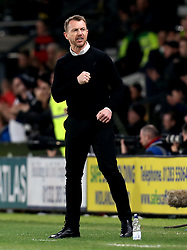 Derby County manager Gary Rowett celebrates Matej Vydra of Derby County scoring a goal - Mandatory by-line: Robbie Stephenson/JMP - 31/03/2017 - FOOTBALL - iPro Stadium - Derby, England - Derby County v Queens Park Rangers - Sky Bet Championship