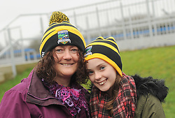 Una and Patricia Power supporting Louisburgh in Ennis,<br />