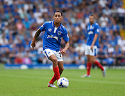 Portsmouth's Kyle Bennett on the ball during the Sky Bet League 2 match between Portsmouth and Morecambe at Fratton Park, Portsmouth, England on 22 August 2015. Photo by David Charbit.