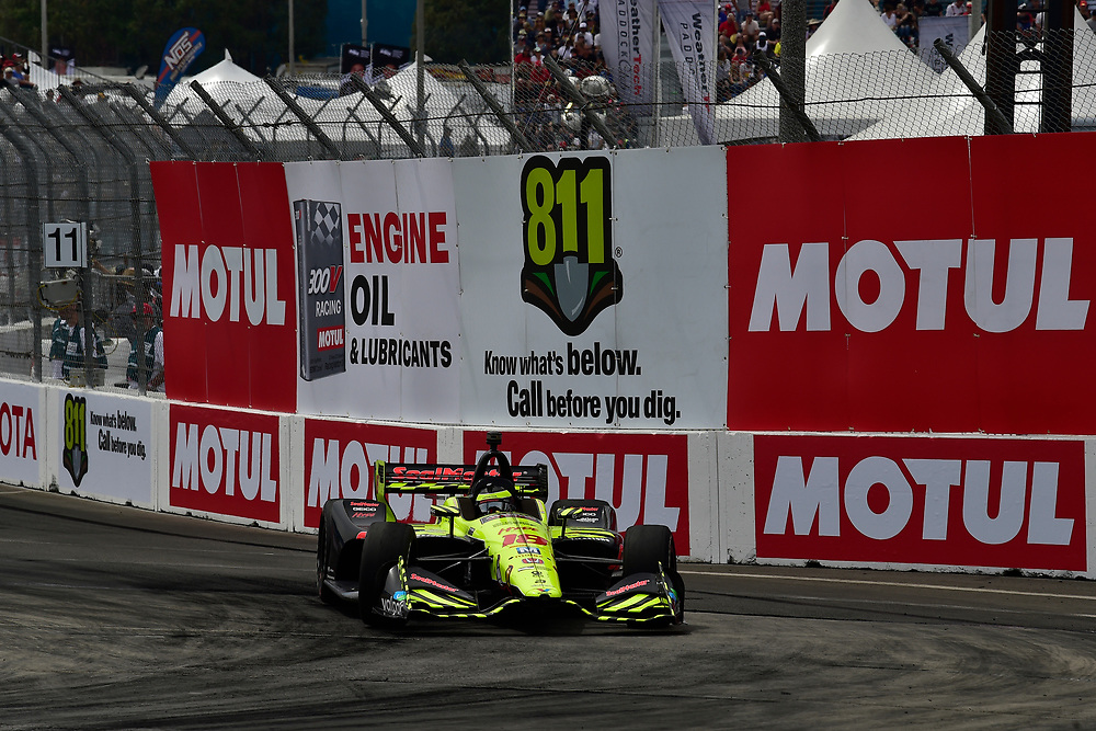 S&eacute;bastien Bourdais, Dale Coyne Racing with Vasser-Sullivan Honda<br /> Sunday 15 April 2018<br /> Toyota Grand Prix of Long Beach<br /> Verizon IndyCar Series<br /> Streets of Long Beach, California USA<br /> World Copyright: Scott R LePage<br /> LAT Images