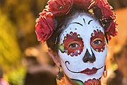 A woman dressed as La Calavera Catrina during the Day of the Dead festival November 1, 2016 in San Miguel de Allende, Guanajuato, Mexico. The week-long celebration is a time when Mexicans welcome the dead back to earth for a visit and celebrate life.