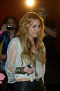Miley Cyrus meeting with fans in Madrid
