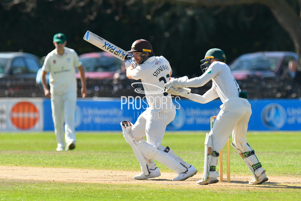 Mark Stoneman of Surrey batting during the final day of the Specsavers County Champ Div 1 match between Worcestershire County Cricket Club and Surrey County Cricket Club at New Road, Worcester, United Kingdom on 13 September 2018.