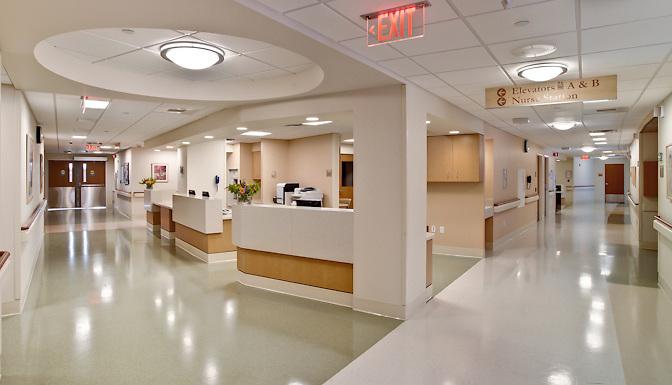 Hudson Valley Hospital Center nurses station.