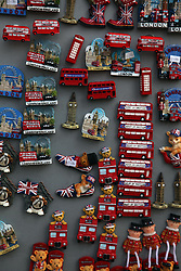 21 April 2011. London, England..Fridge magnets at a tourist shop near Buckingham Palace in the run up to Catherine Middleton's marriage to Prince William..Photo; Charlie Varley.