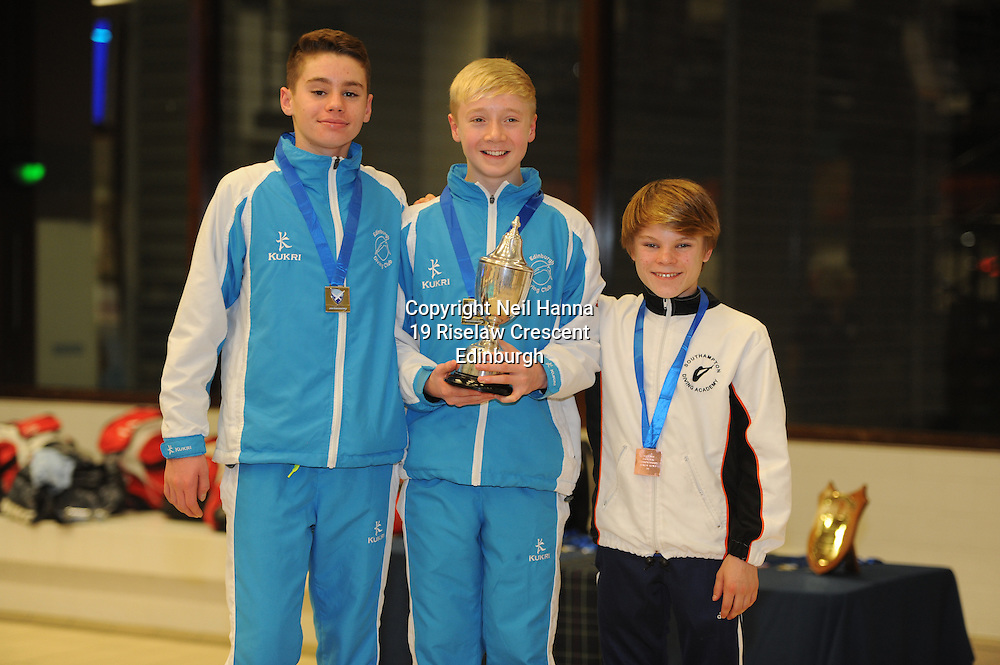 Scottish National Diving Championships &amp; Thistle Trophy 2015<br /> Royal Commonwealth Pool, Edinburgh<br /> <br /> 1M Junior National<br /> <br /> Aaron Daly EDC, Lucas Thomson EDC and Cameron Gammage of Southampton DC<br /> <br /> <br />  Neil Hanna Photography<br /> www.neilhannaphotography.co.uk<br /> 07702 246823