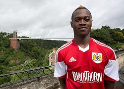 Toby Ajala of Bristol City - Photo mandatory by-line: Kieran McManus/JMP - Tel: Mobile: 07966 386802 31/07/2013 - SPORT - FOOTBALL - Avon Gorge Hotel - Clifton Suspension bridge - Bristol -  Team Photo
