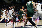 Matt Hein (5) of Siena drives to the basket against Xavier during an NCAA college basketball game against Xavier, Friday, Nov. 8, 2019, at the Cintas Center in Cincinnati, OH. Xavier defeated Siena 81-63. (Jason Whitman/Image of Sport)