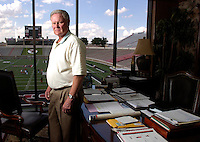 Jodi Miller Lubbock Avalanche-Journal.Texas Tech Athletic Director Gerald Myers says one of the best things about his job is the view from his office.